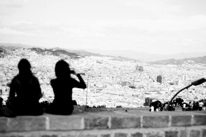 Tourists on Montjuïc. March 2013