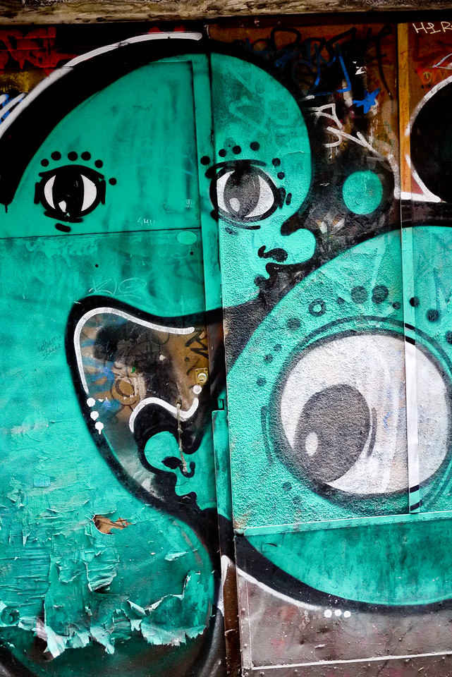 Street graffiti in Barcelona, Spain.