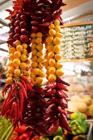 La Boqueria market in Barcelona, Spain.