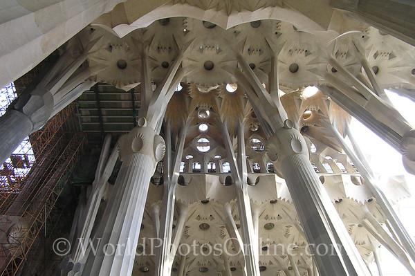 Barcelona - Sagrada Familia - Ceiling Arches