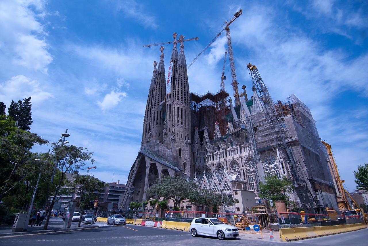 The Sagrada Familia Basilica in Barcelona, Spain