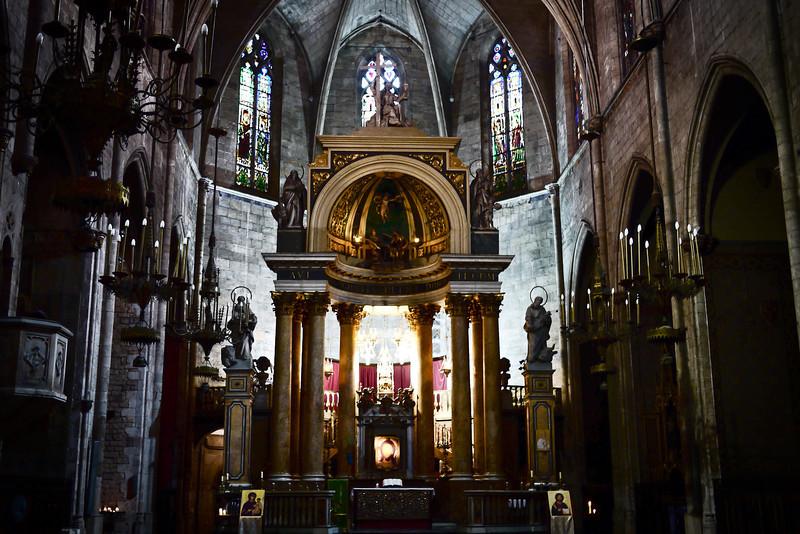 The beautiful Santa Maria del Mar church in Barcelona, Spain.