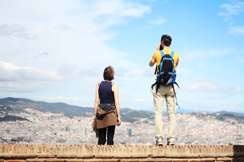 Tourists on Montjuïc. March 2013