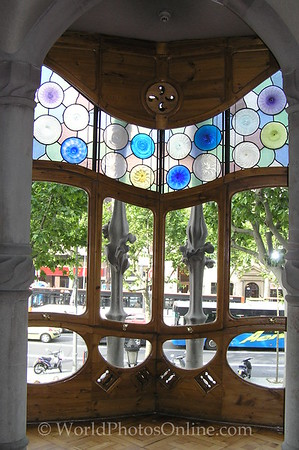 Barcelona - Casa Batllo - Front Windows