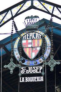 The Mercat de Sant Josep de la Boqueria in Barcelona, Spain.