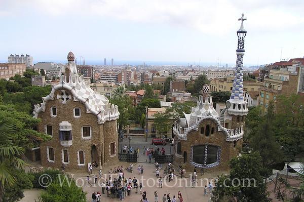 Barcelona - Parc Guell - Gatehouses
