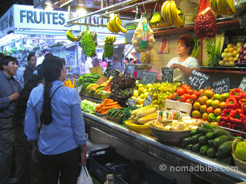 Shopping at La Boqueria in Barcelona