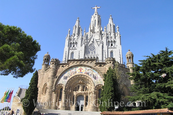 Barcelona - Tibidabo - Temple del Sagrat Cor