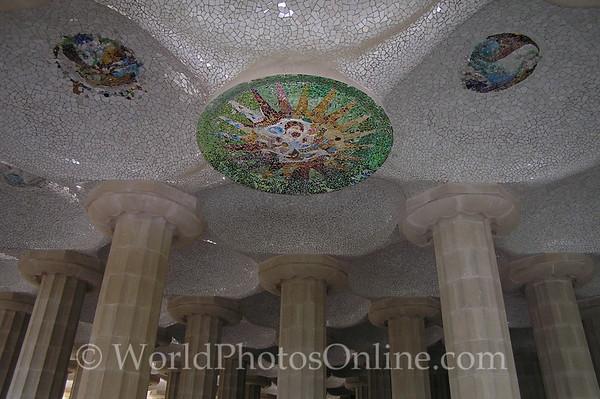 Barcelona - Parc Guell - Sala Hipostila Ceiling