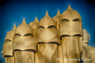 Moorish Warrior Chimneys - Le Pedrera (Casa Mila) Barecelona
