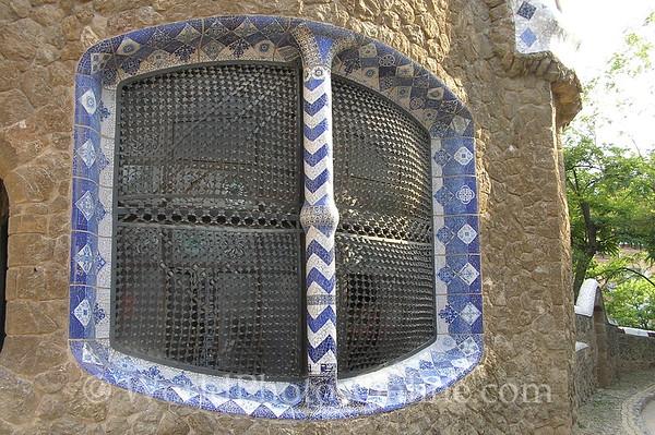 Barcelona - Parc Guell - Gatehouse Window