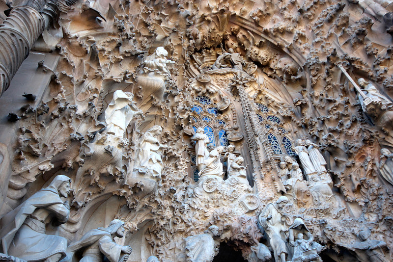 Close up Sagrada Familia - exterior