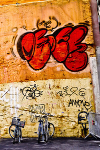 Street graffiti in Barcelona, Spain.