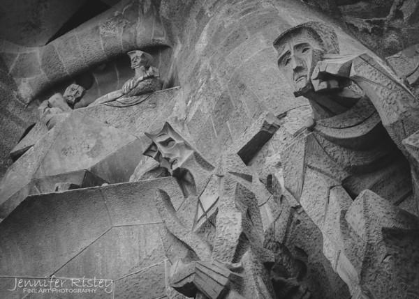 La Sagrada Familia Passion Facade Detail