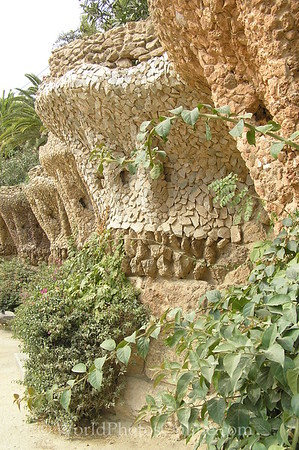 Barcelona - Parc Guell - Wall