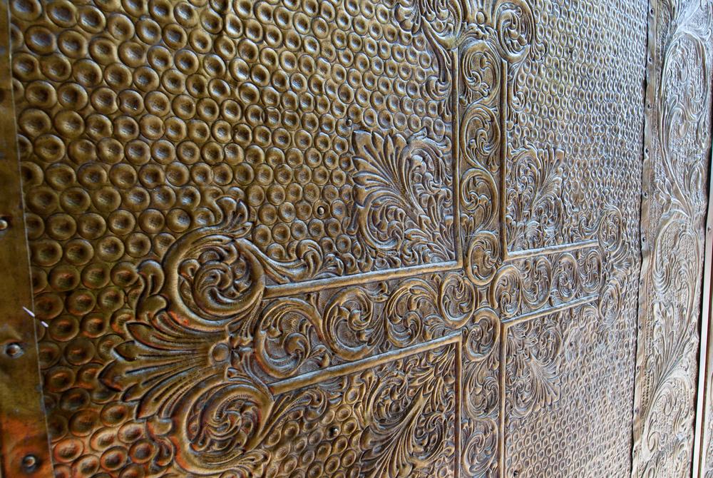 Church door in Benidorm, Spain