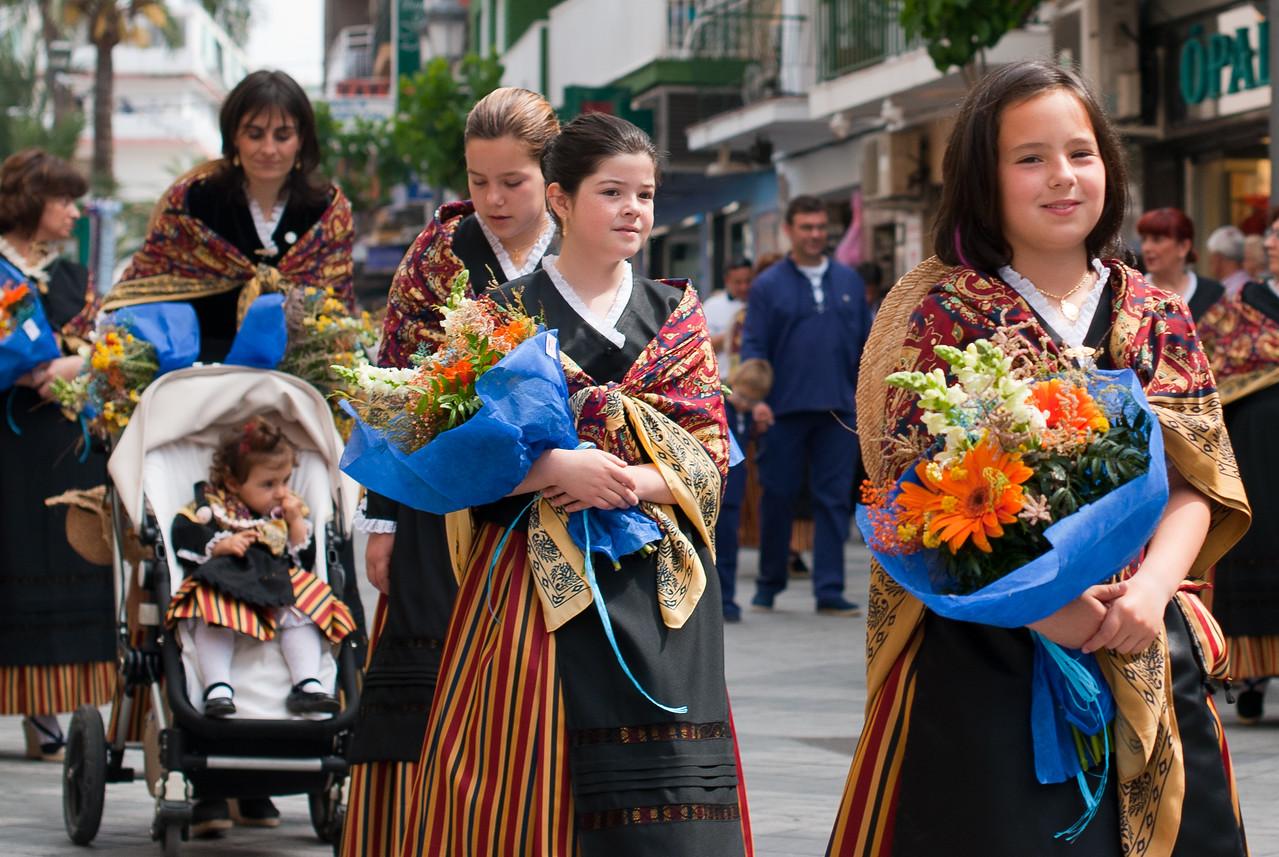 Procession during Roman Catholic ceremony in Benidorm, Spain