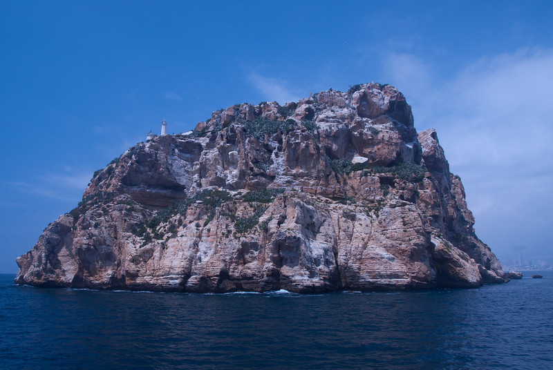 Benidorm Island (also known as Peacock Island) in Benidorm, Spain