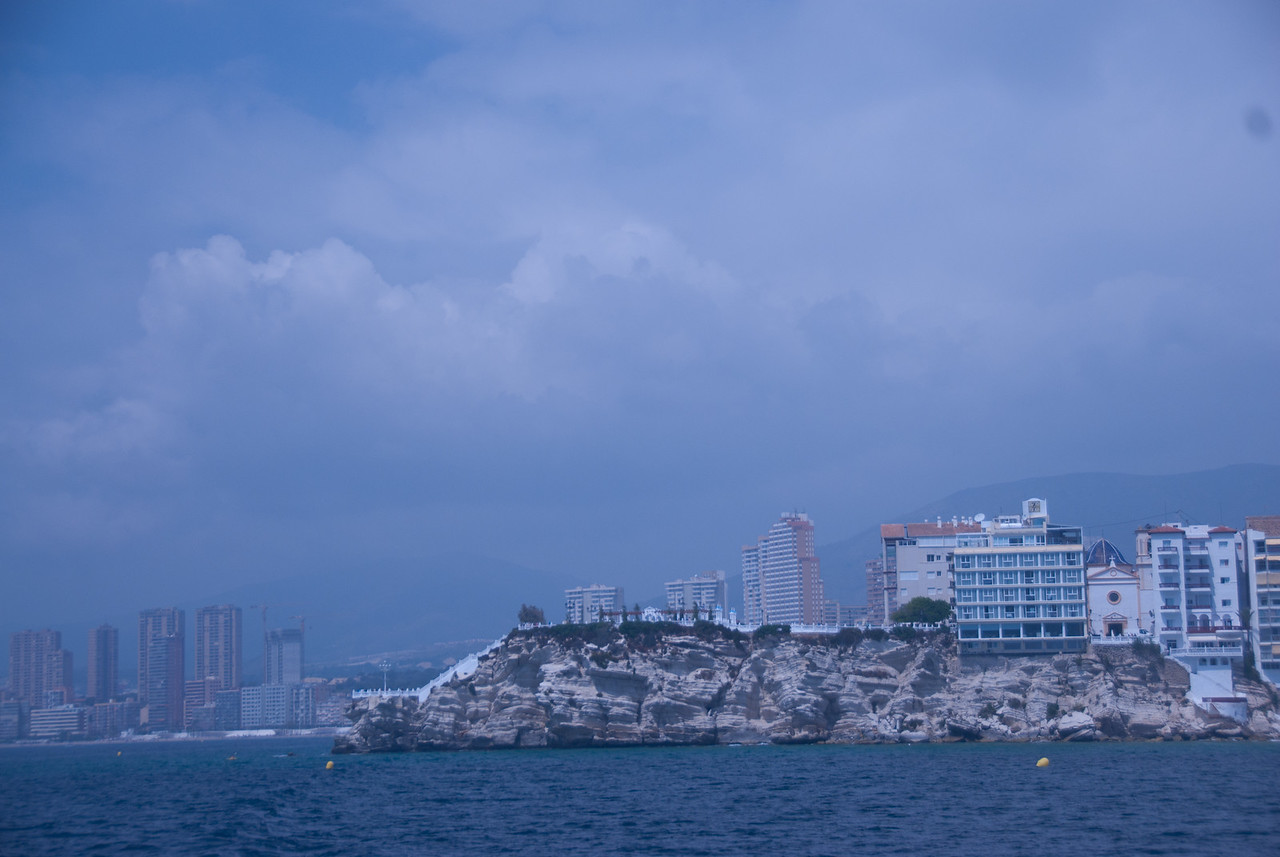 View of the skyline from the boat - Benidorm, Spain