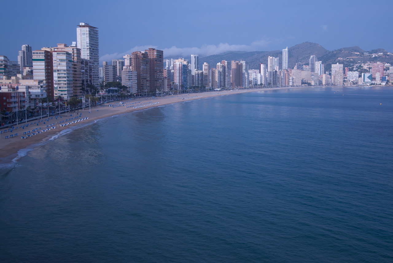 Beautiful beach and coastline in Benidorm, Spain