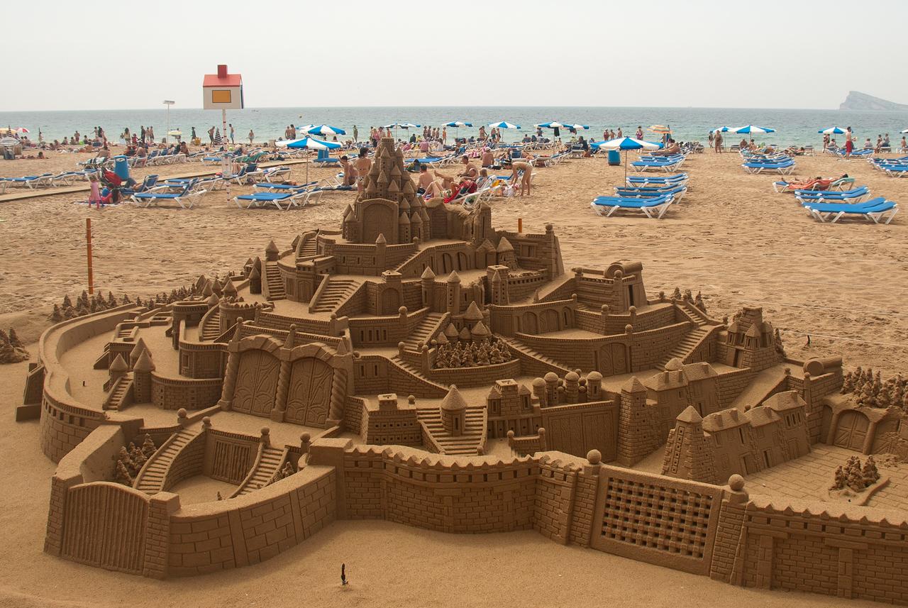 Sandcastle on Playa de Levante, Benidorm, Spain