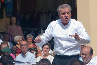 Musical maestro conducting in Benidorm, Spain