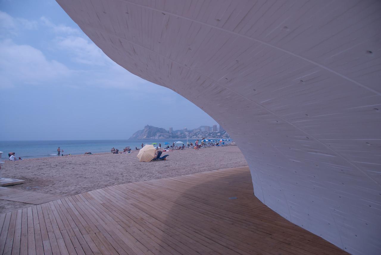 Paseo Marítimo de la Playa Poniente in Benidorm, Spain
