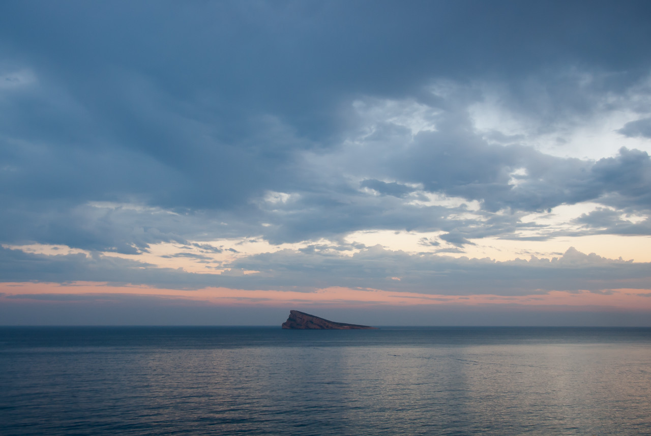 The Benidorm Island (or Peacock Island) in Benidorm, Spain