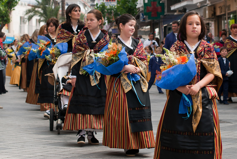 Procession during Roman Catholic ceremony in Benidorm, Spain