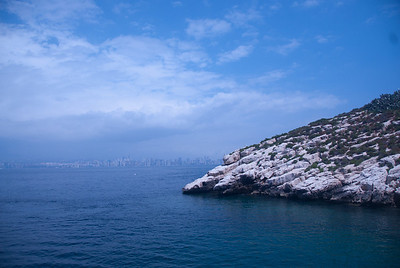 Tip of Benidorm Island in Benidorm, Spain