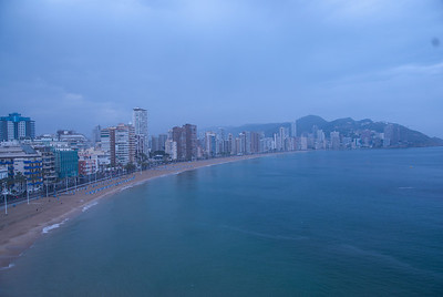 Beautiful coastline of Benidorm, Spain