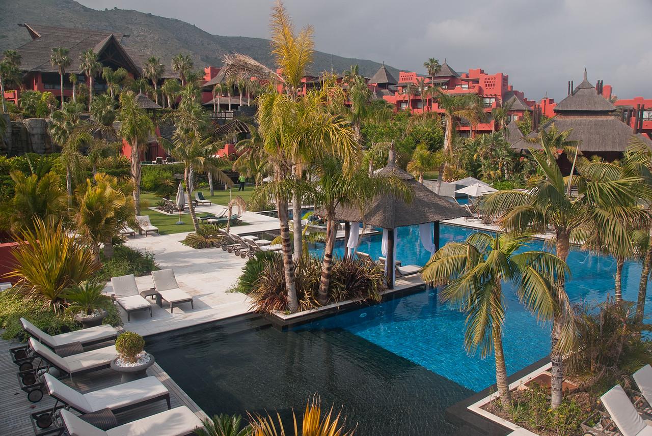 Beautiful tropical resort in Benidorm, Spain