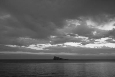 Benidorm Island in B&W - Benidorm, Spain