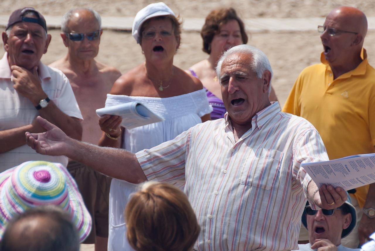 Senior gathering in Benidorm, Spain