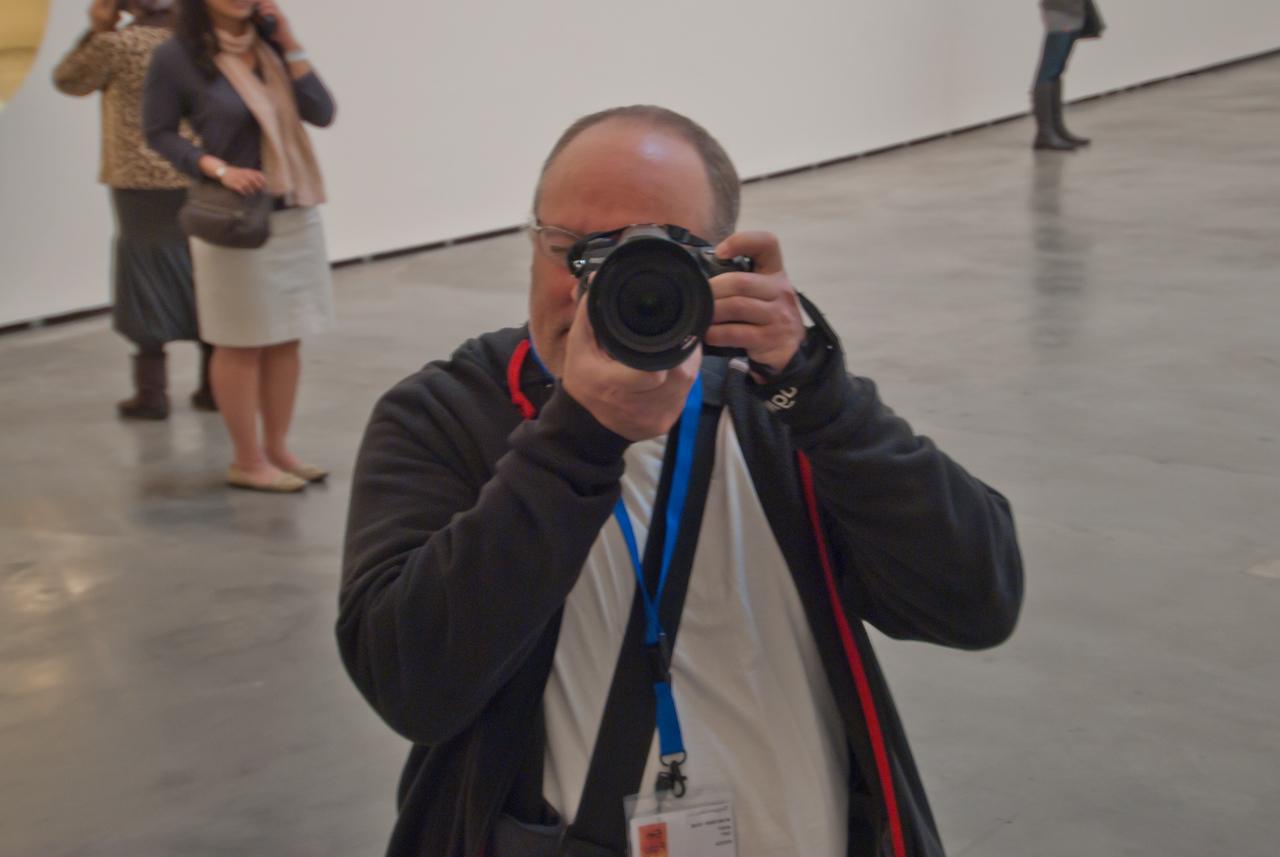 Reflection inside Guggenheim Museum in Bilbao, Spain