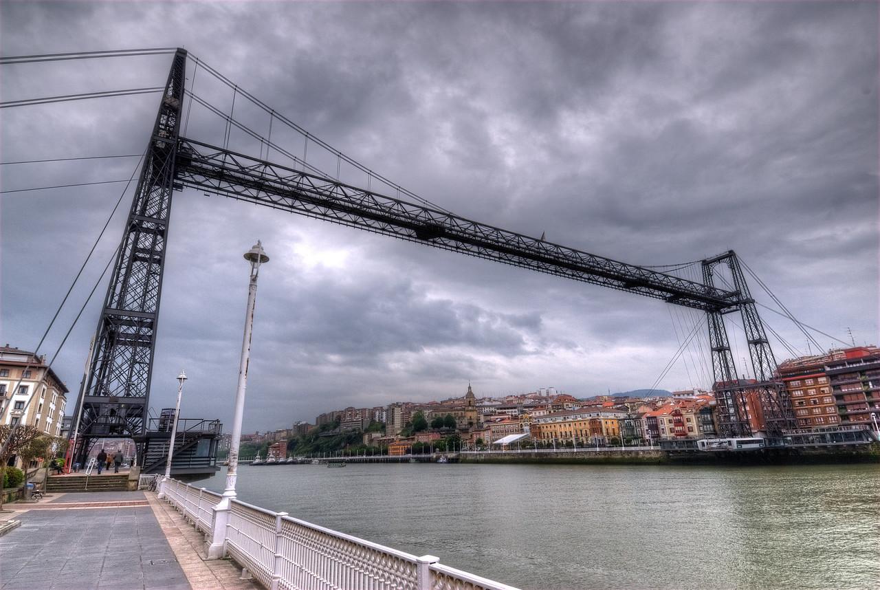 Puente Colgante (or Colgante Bridge) in Bilbao, Spain