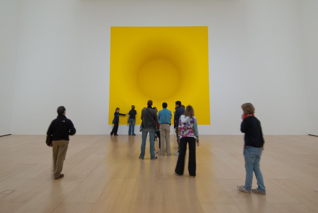 Modern art exhibit at the Guggenheim Museum, Bilbao, Spain