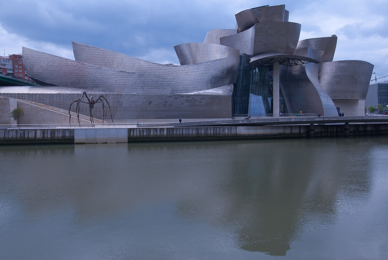 Guggenheim Museum and Nervion River in Bilbao, Spain