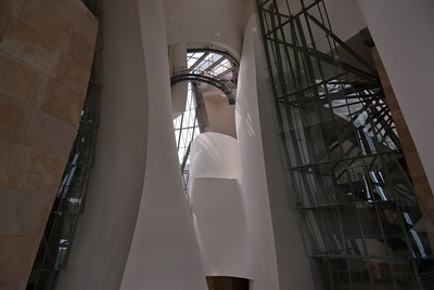 Inside Guggenheim Museum in Bilbao, Spain