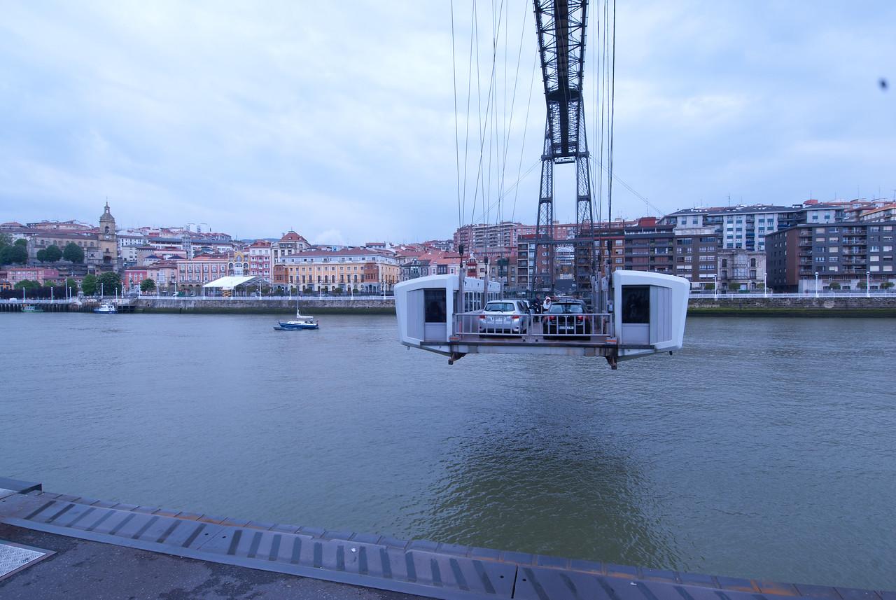 Puente Colgante, or Colgante Bridge, in Bilbao, Spain