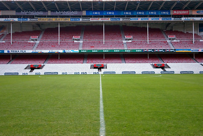 The field in San Mames Stadium in Bilbao, Spain