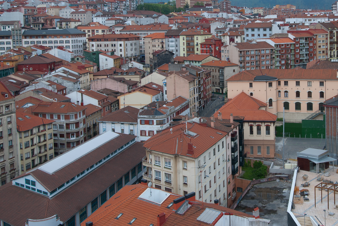 City skyline in Bilbao, Spain