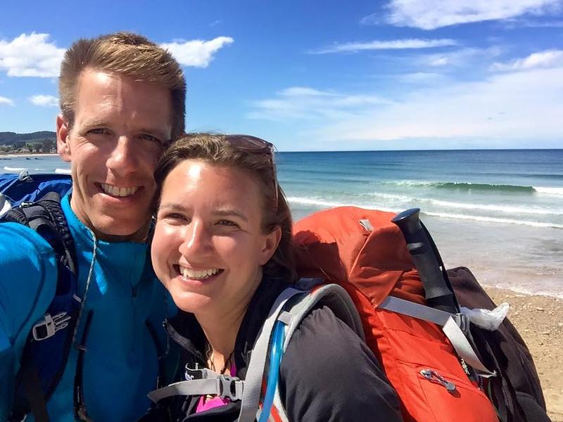 Dan and Audrey along the Camino Norte, Spain
