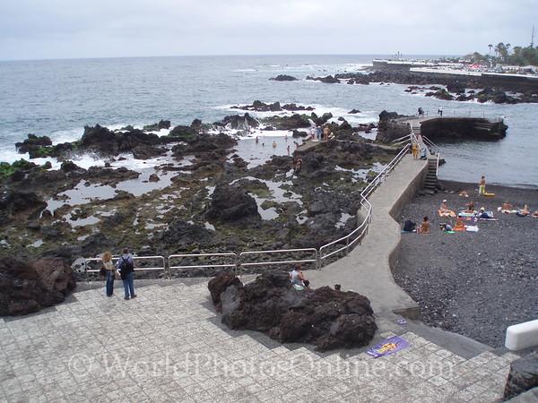 Tenerife, Puerto De La Cruz - black sand city beach 1