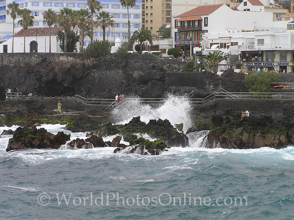 Tenerife, Puerto De La Cruz - black sand city beach 2
