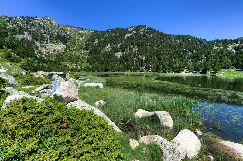 Mountain Lake in Cerdanya Region, Spain