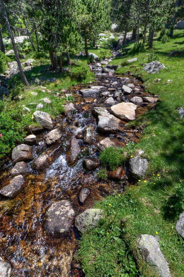 A Rocky Creek in the Cerdanya Region of Spain