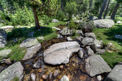 A rocky creek in the Cerdanya Region of Spain