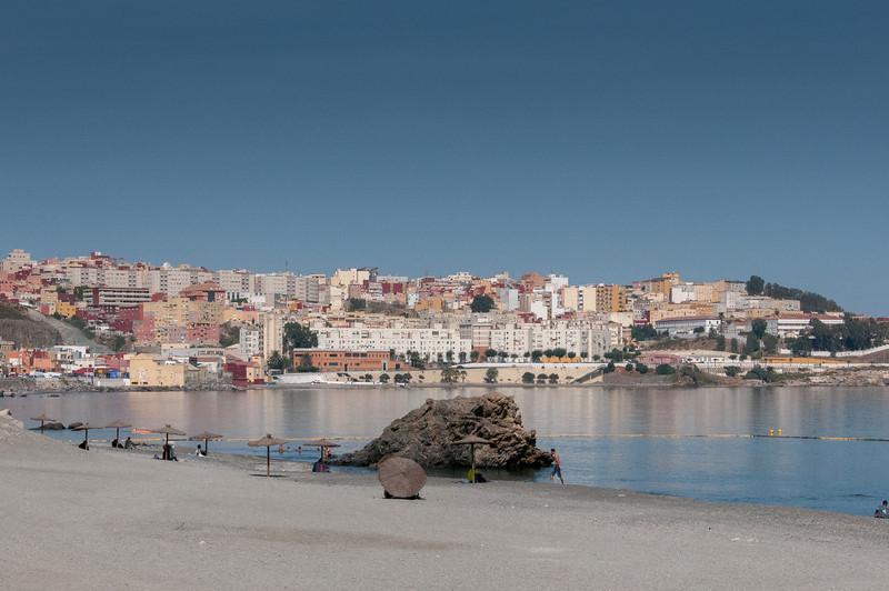 El Sarchal Beach in Ceuta, Spain