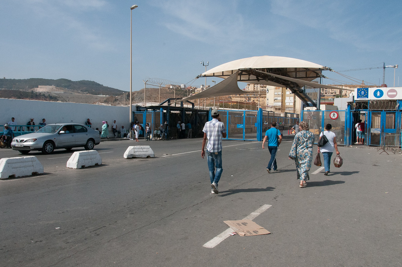 At the ferry port in Ceuta, Spain